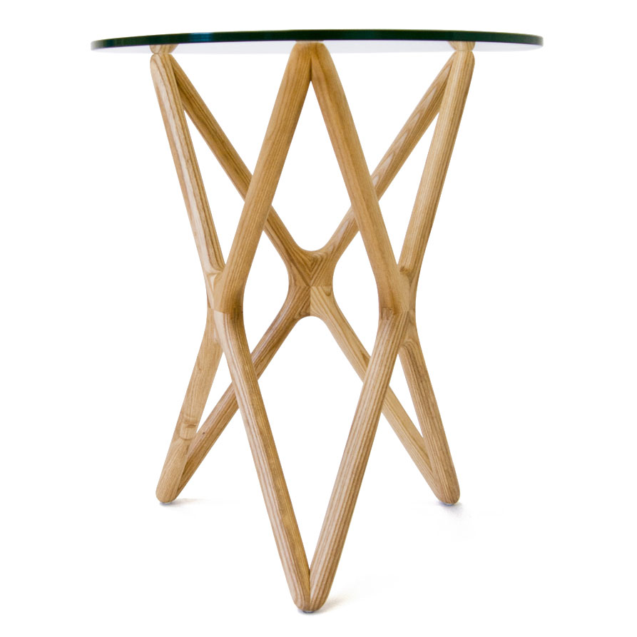 Sparta Solid American Ash Modern Side Table