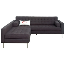 Spencer Contemporary Loft Bi-Sectional in Urban Tweed Ink