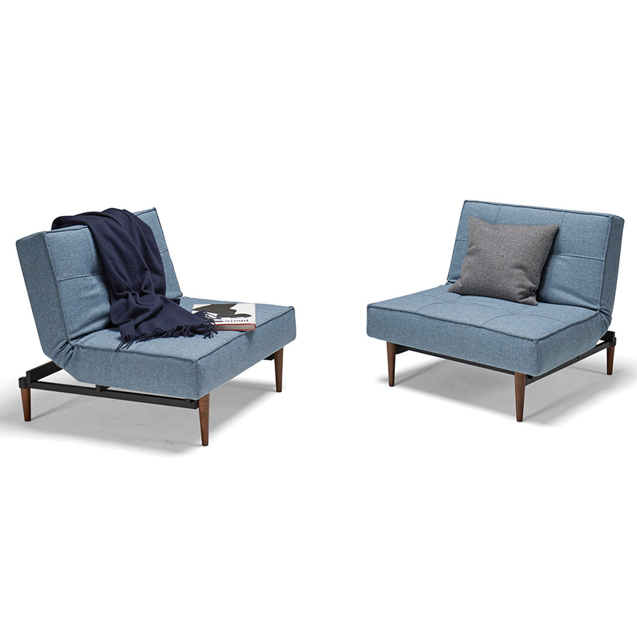 Splitback Modern Chairs in Light Blue