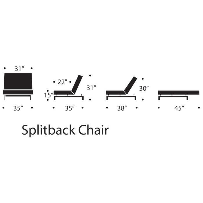 Splitback Modern Adjustable Lounge Chair
