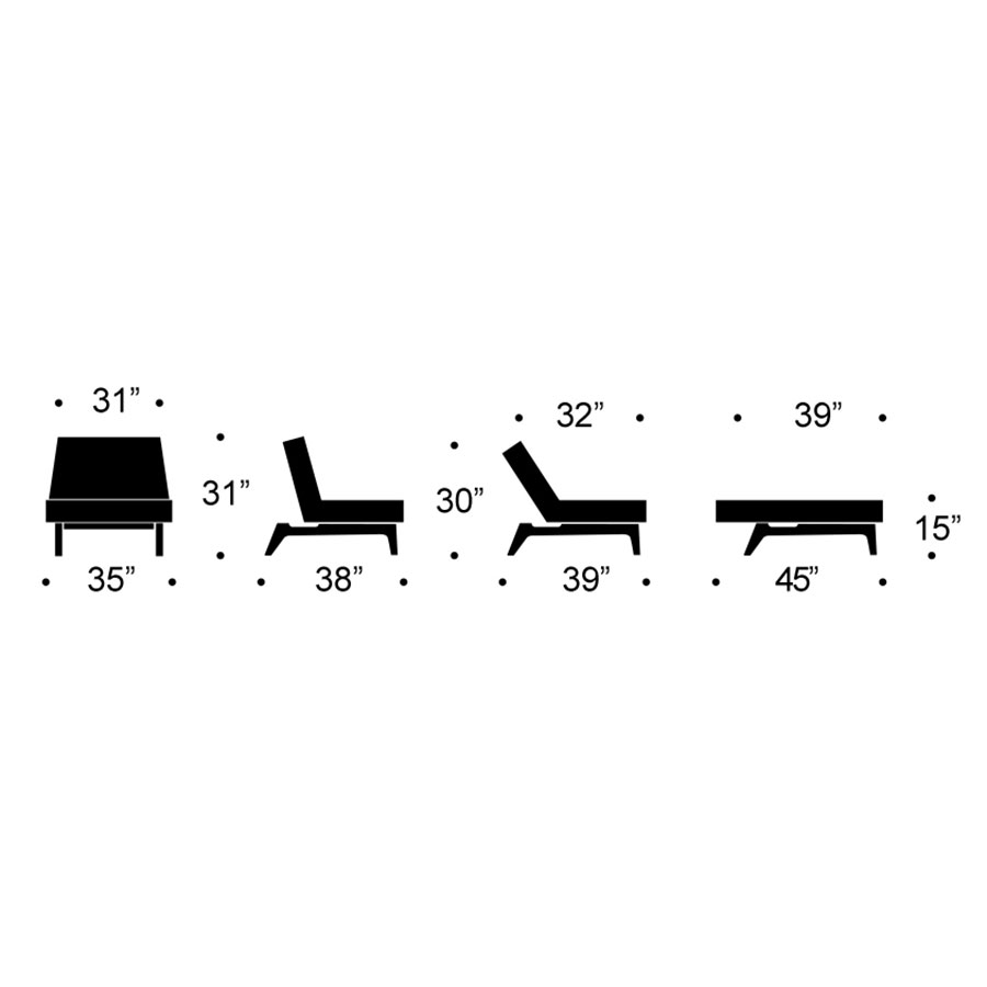 Splitback Eik Modern Chair Dimensions