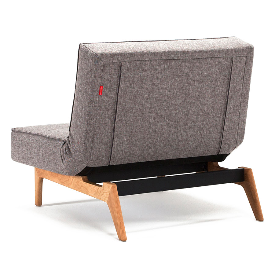 Splitback Eik Modern Fold Down Chair in Grey