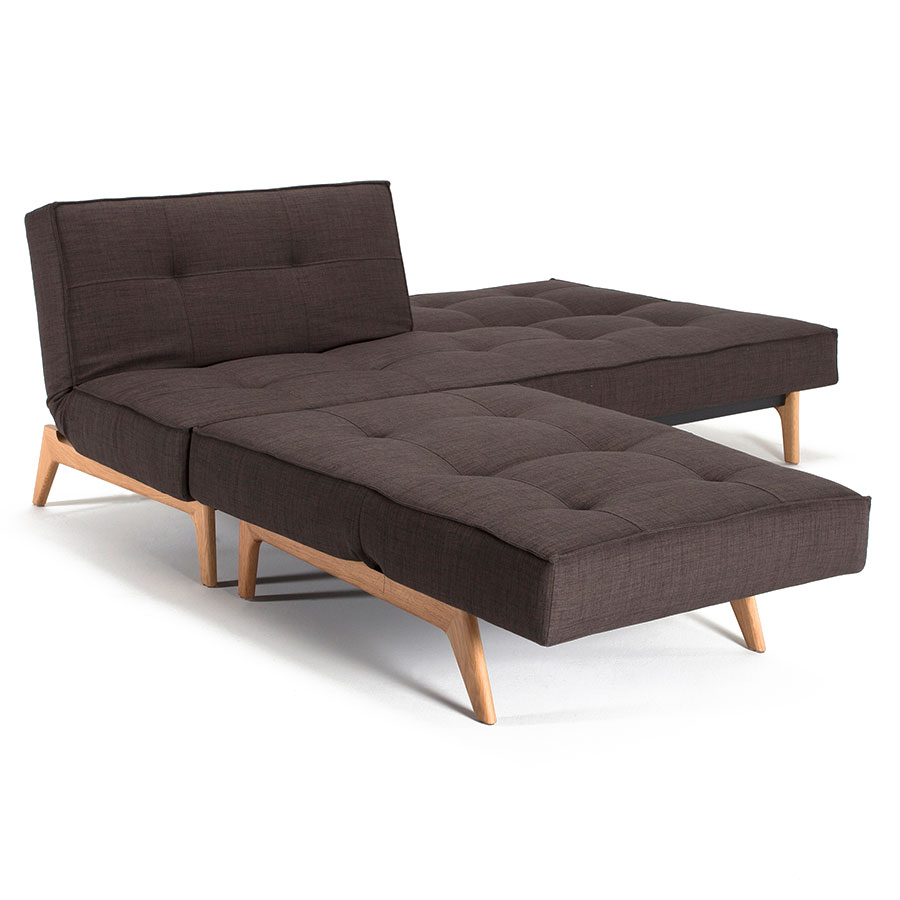 Splitback Sleeper Sofa and Chair in Brown Begum