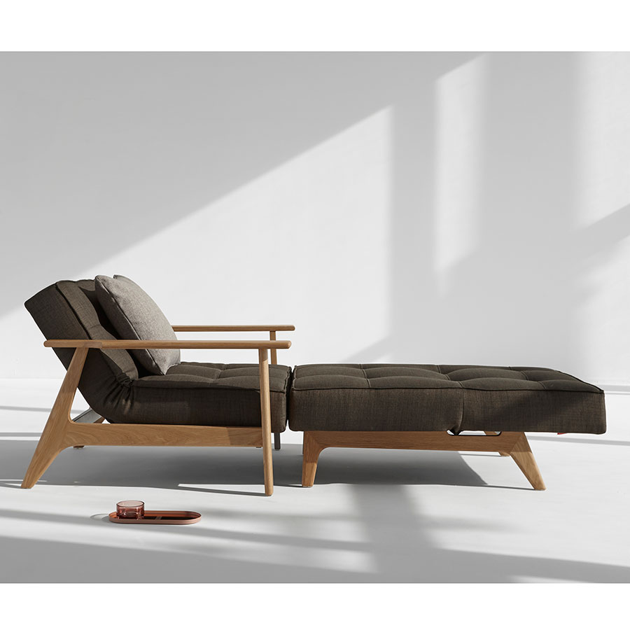 Splitback Sleeper Sofa in Brown Begum with Chair