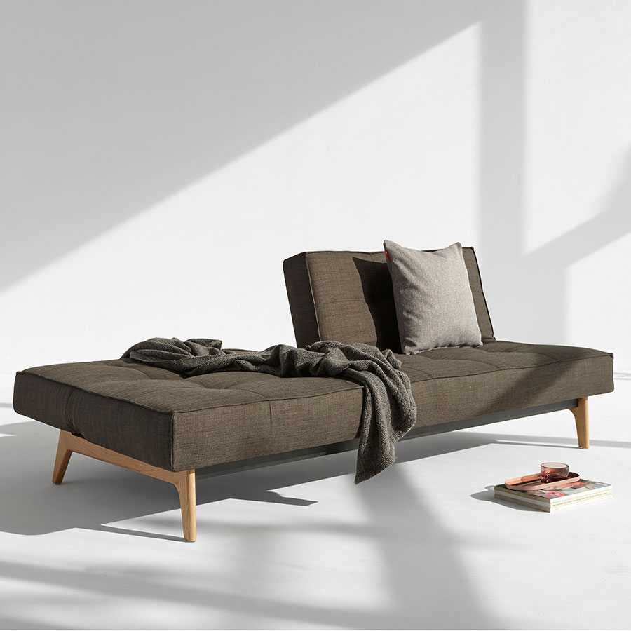 Splitback Sleeper Sofa in Brown Begum