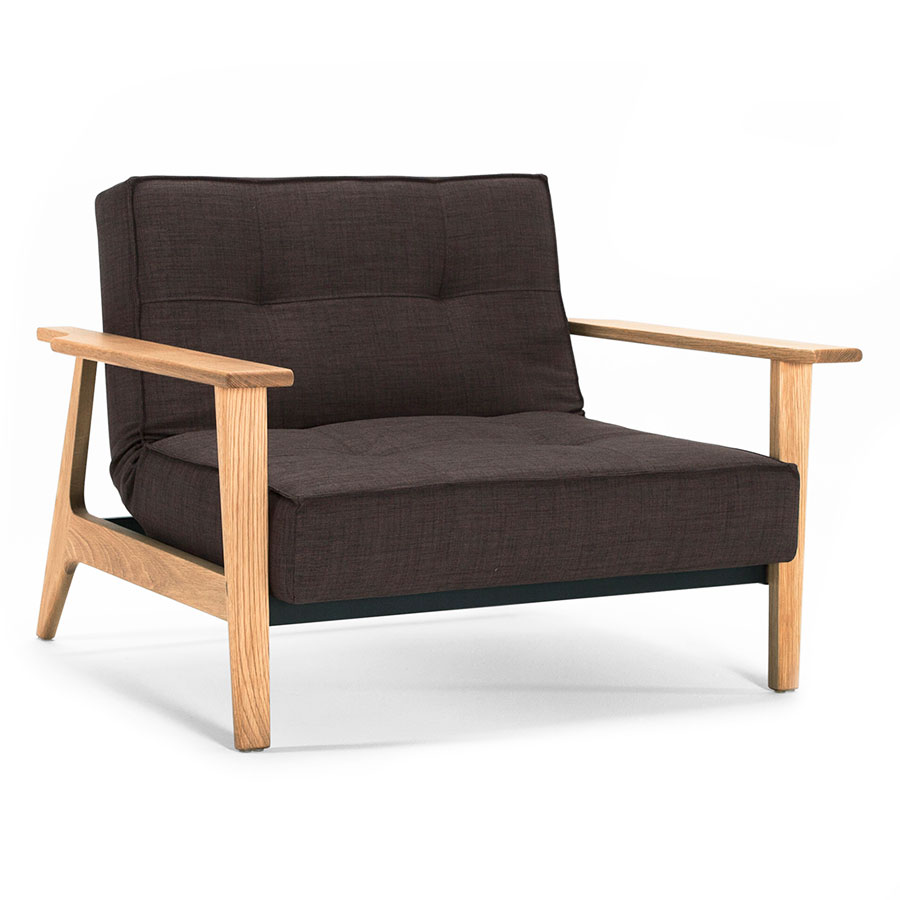 Splitback Frej Chair in Begum Dark Brown by Innovation