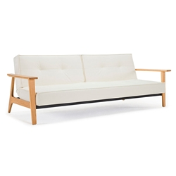 Splitback Frej Sleeper in White Leather Look