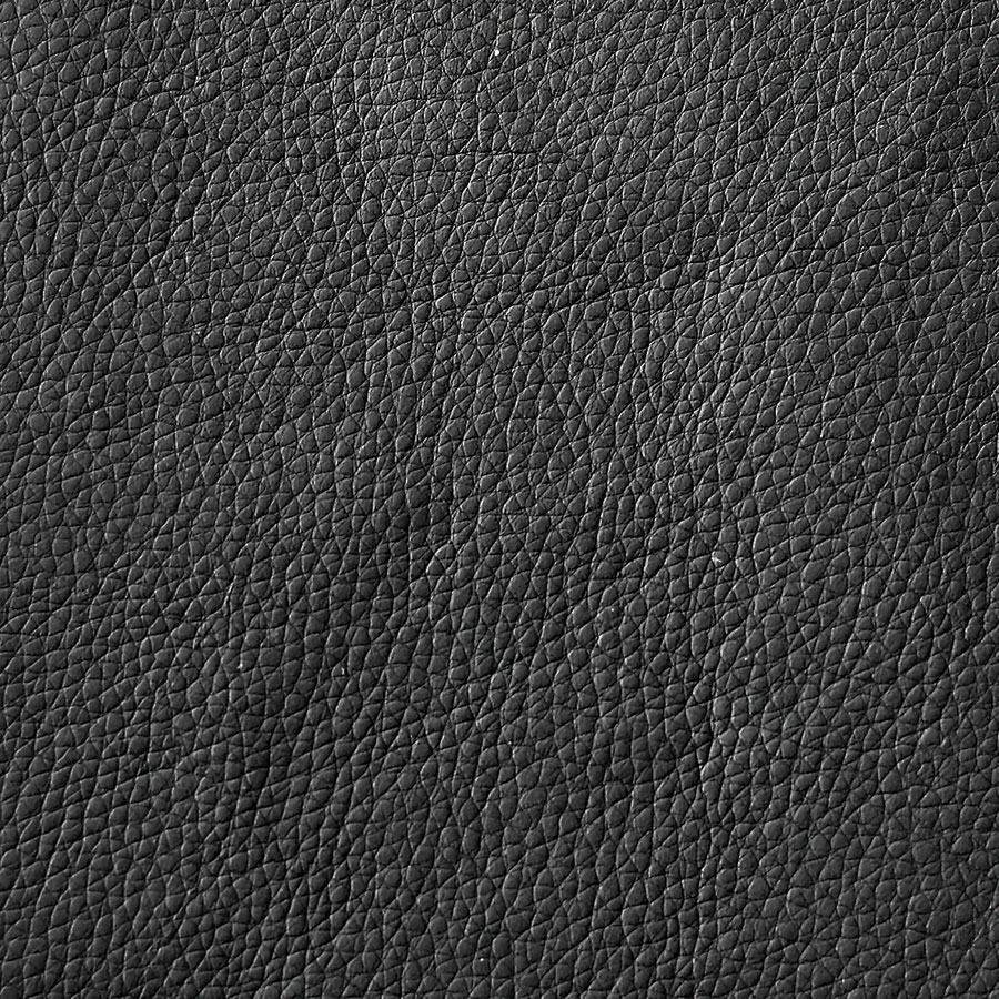 Black Polyurethane Leather Look Fabric