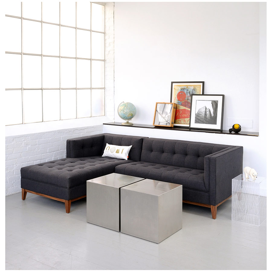 Gus Modern Stainless Steel Cube as Coffee Table