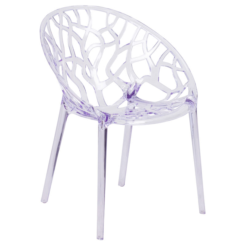 Stellar Modern Transparent Stacking Chair