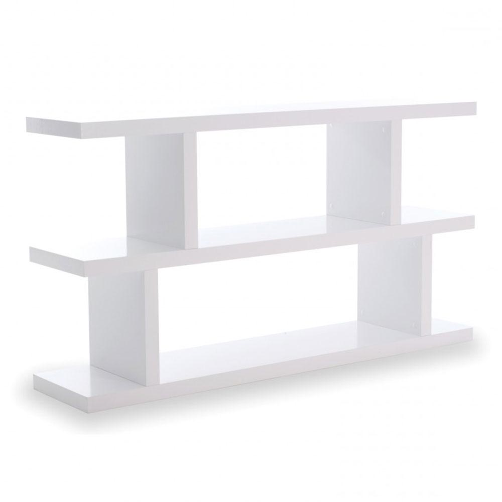 Step Low Bookcase in Pure White