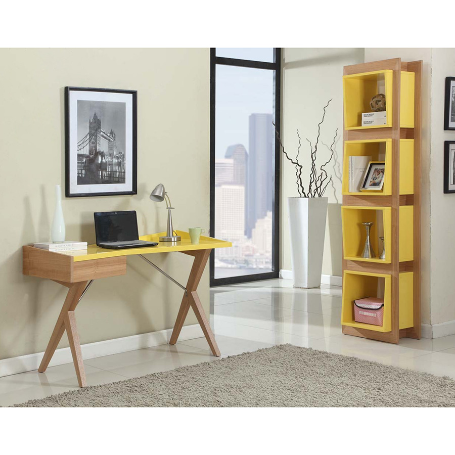 Stockholm Contemporary Yellow Desk