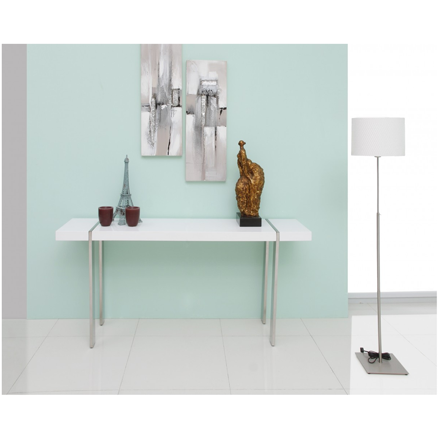 Struttura White + Metal Modern Console Table