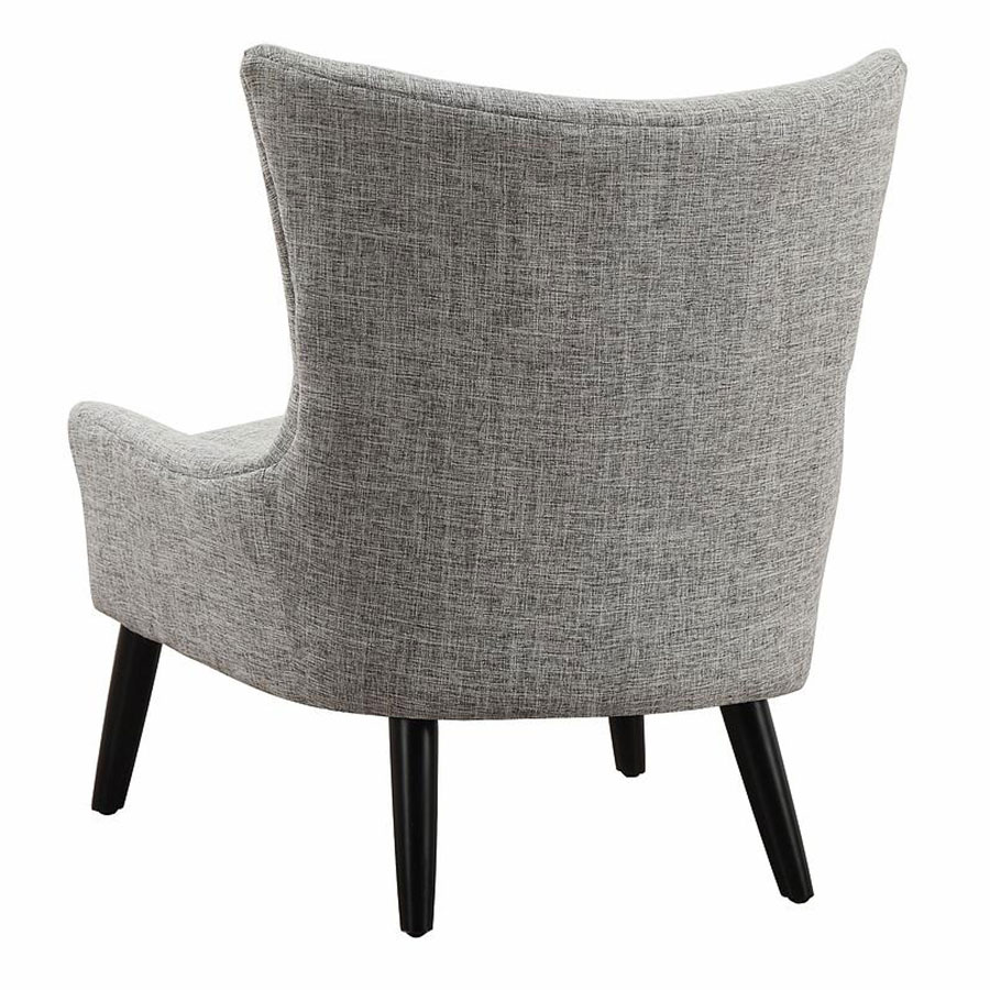 Stuttgart Contemporary Gray Linen Chair - Back View