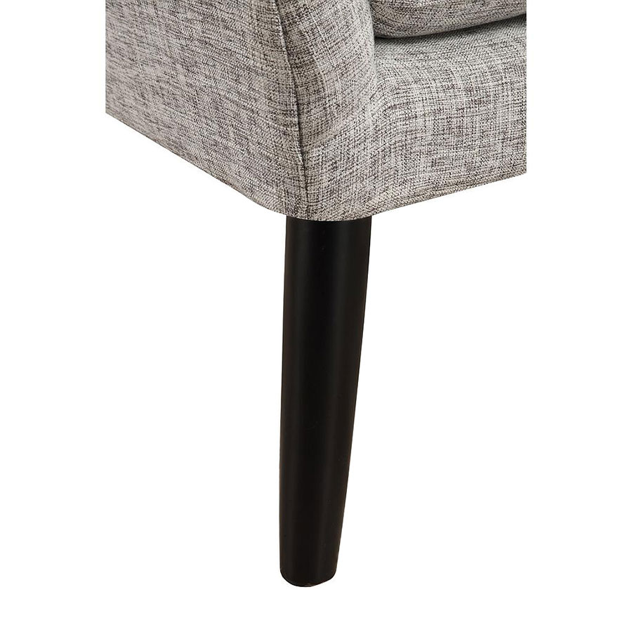 Stuttgart Contemporary Gray Linen Chair - Leg Detail
