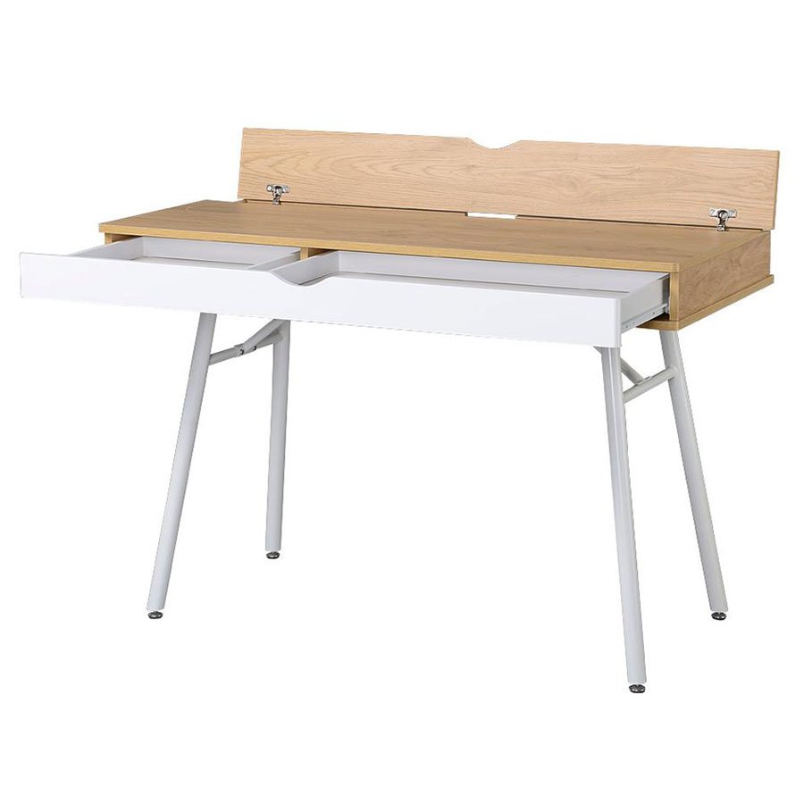 Sweden Modern Desk - Wire Compartment