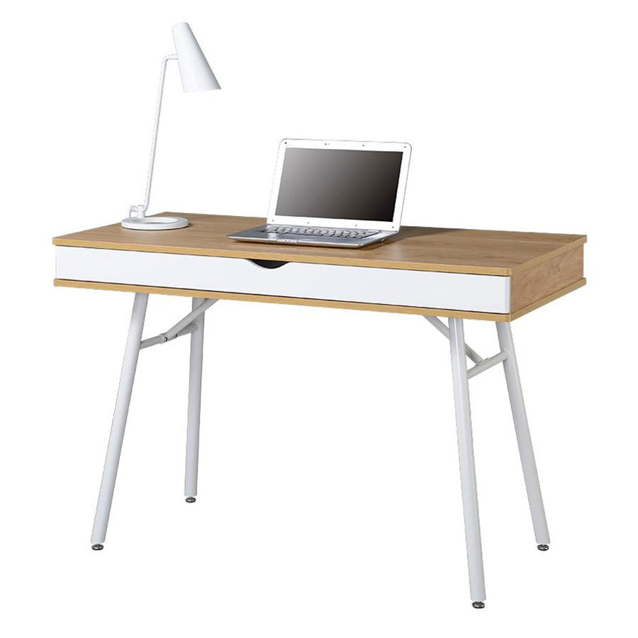 Sweden Modern Desk in Pine and White
