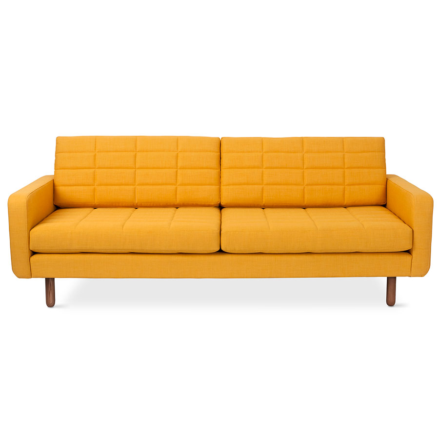 Switch Contemporary Sofa in Laurentian Citrine - Block Pattern