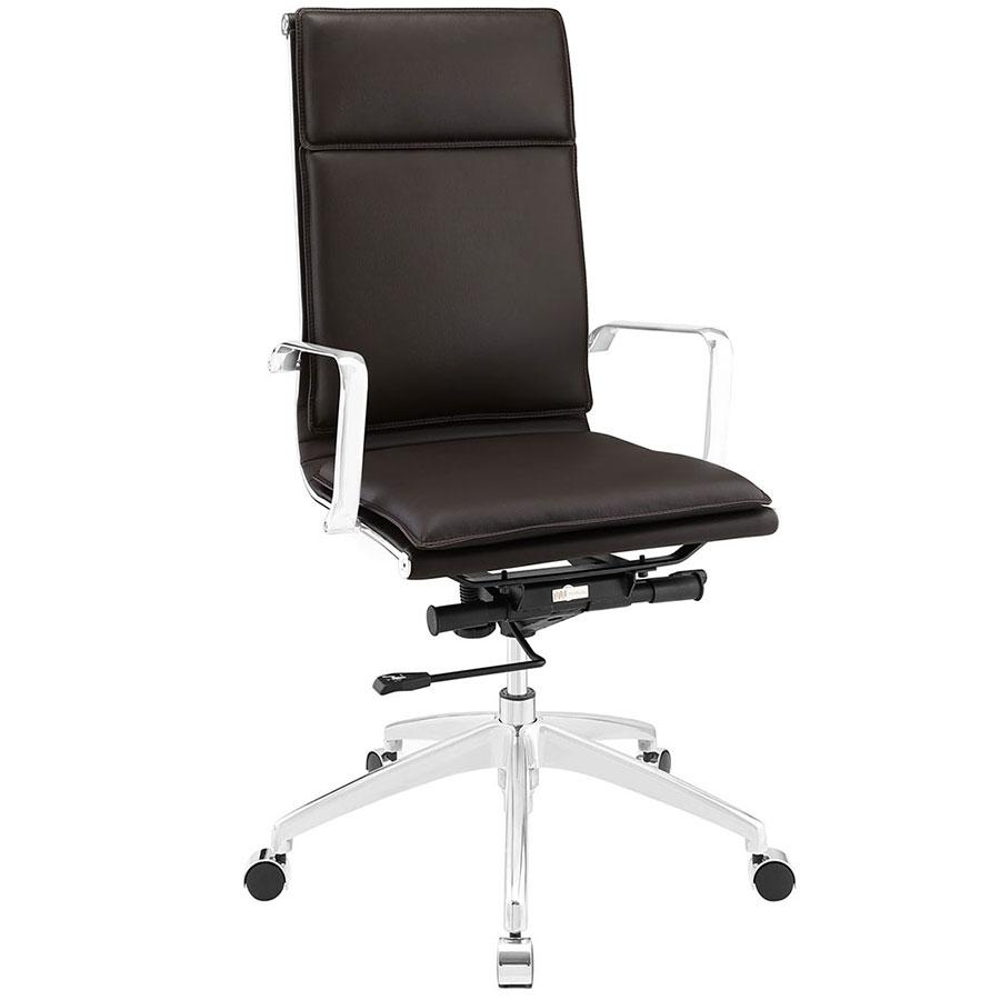 Sydney Brown Modern High Back Office Chair