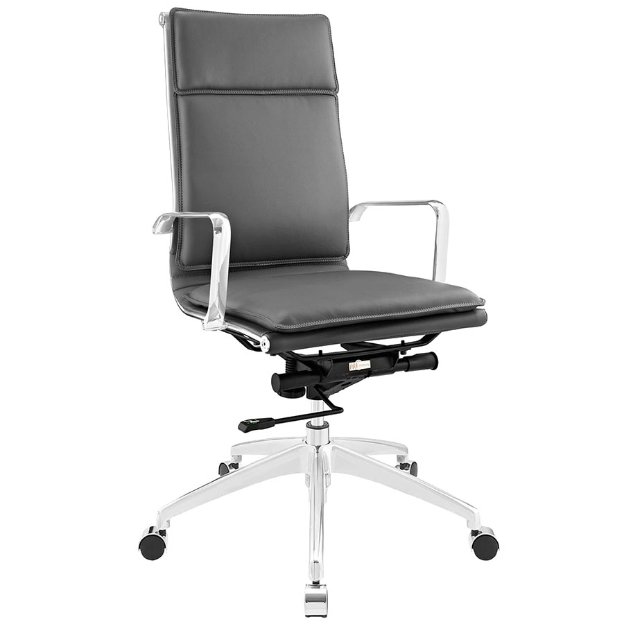 Sydney Gray Modern High Back Office Chair