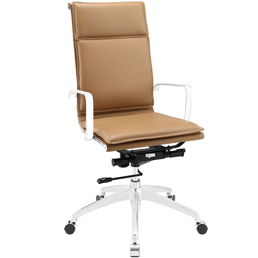 Sydney Tan Modern High Back Office Chair