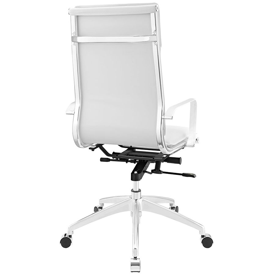 Sydney White Modern High Back Office Chair - Back View