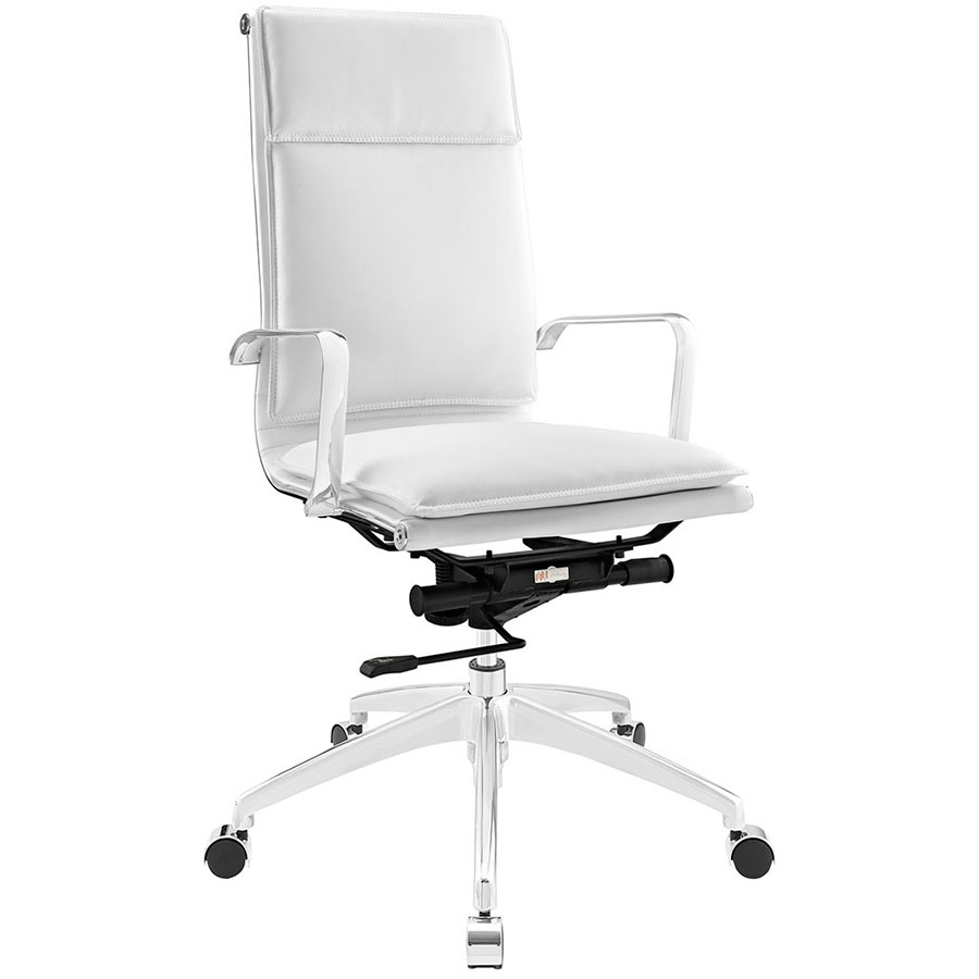 Sydney White Modern High Back Office Chair