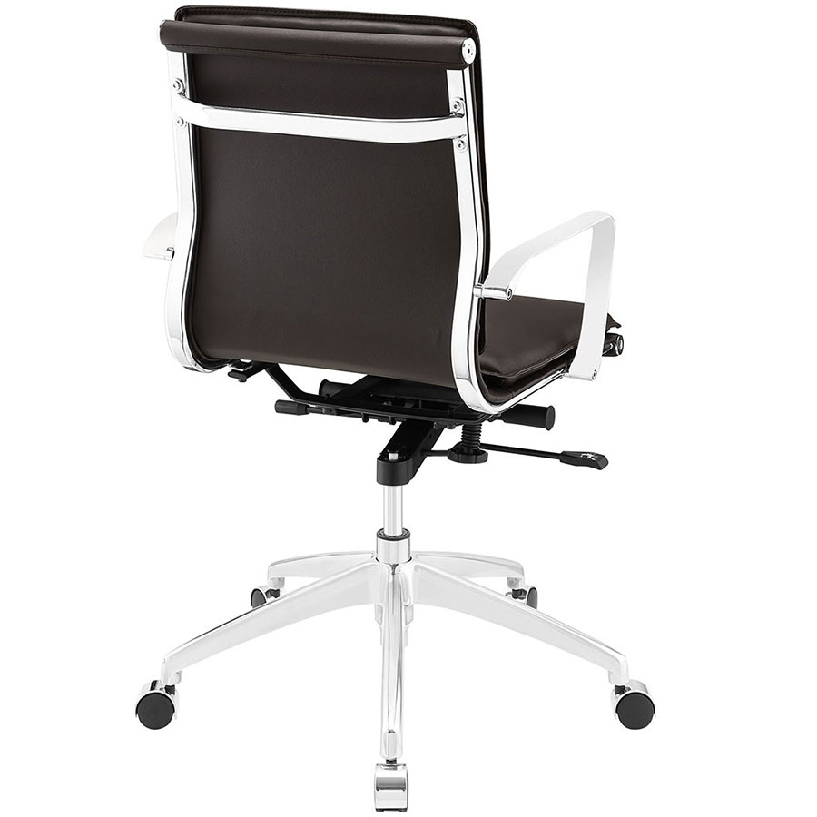 Sydney Brown Modern Low Back Office Chair - Back View