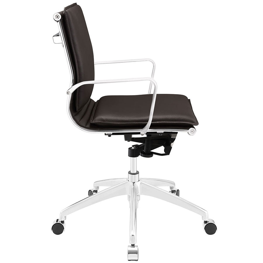 Sydney Brown Modern Low Back Office Chair - Side View