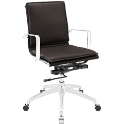 Sydney Brown Modern Low Back Office Chair