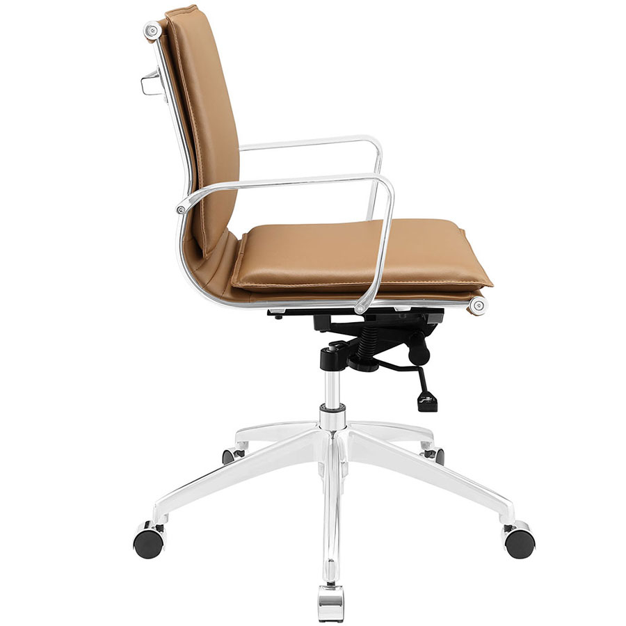 Sydney Tan Modern Low Back Office Chair - Side View