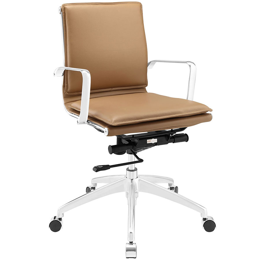 Sydney Tan Modern Low Back Office Chair