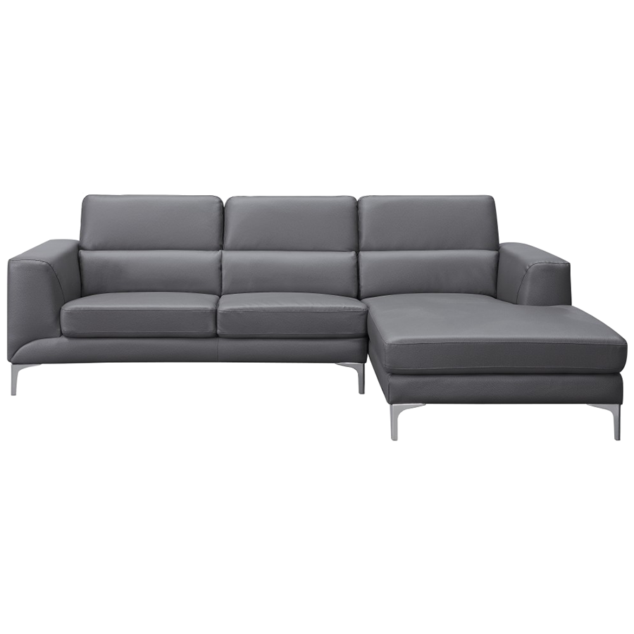 Sydney Gray Leatherette Contemporary Sectional