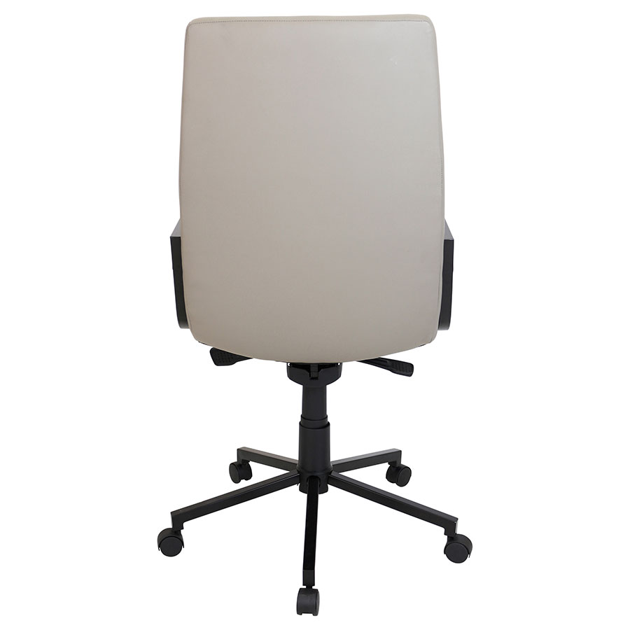 Synergy Black Modern Office Chair - Back View