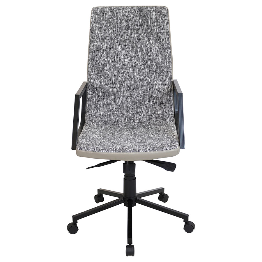 Synergy Black Modern Office Chair - Front View