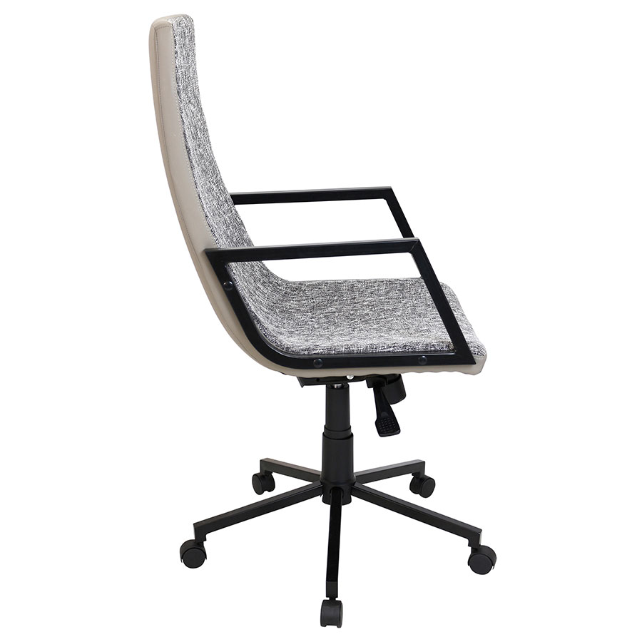 Synergy Black Modern Executive Office Chair - Side View