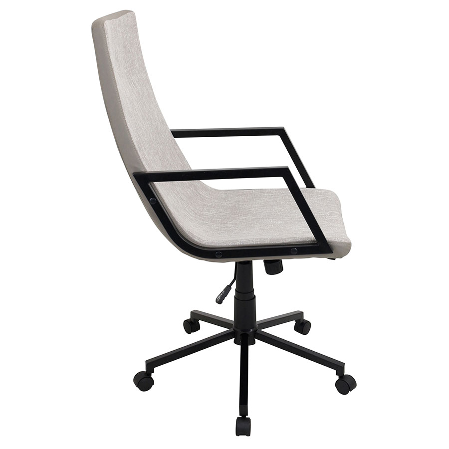 Synergy Tan Modern Executive Office Chair - Side View