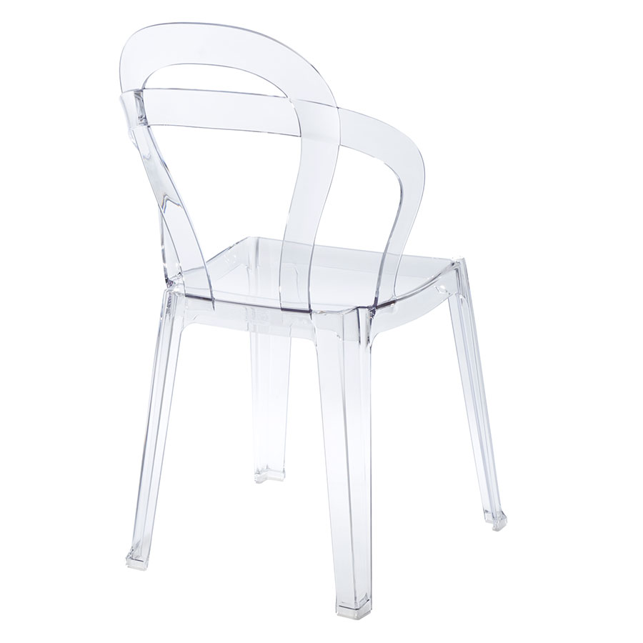 Talbott Clear Plastic Contemporary Dining Chair