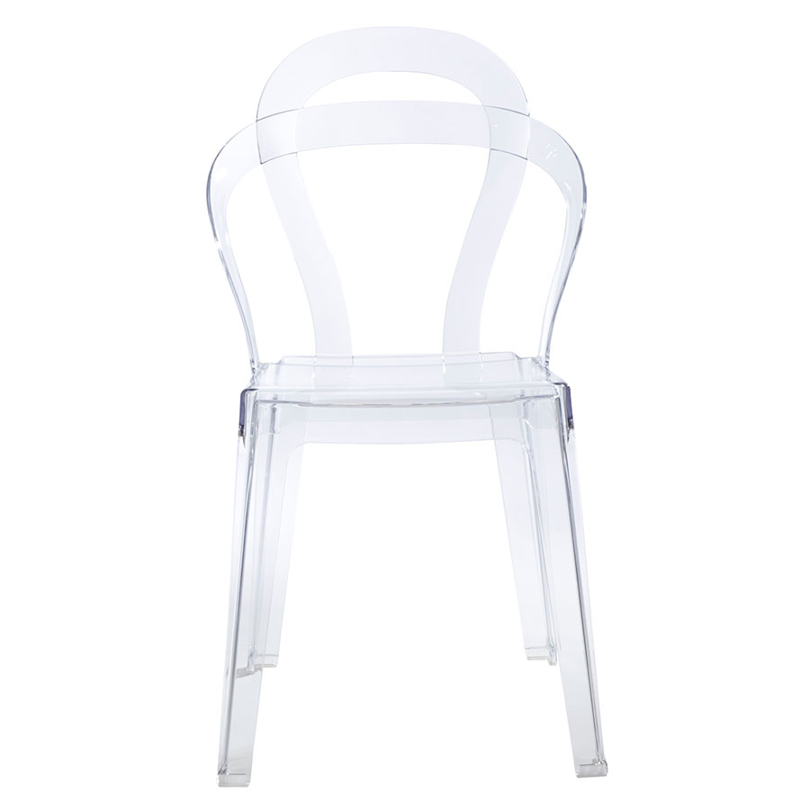 Talbott Clear Contemporary Modern Dining Chair