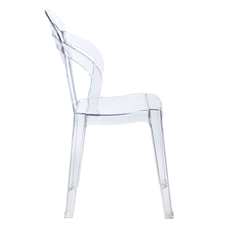 Talbott Clear Plastic Modern Dining Chair