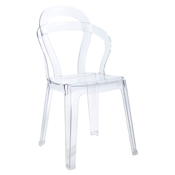 Talbott Clear Modern Dining Chair