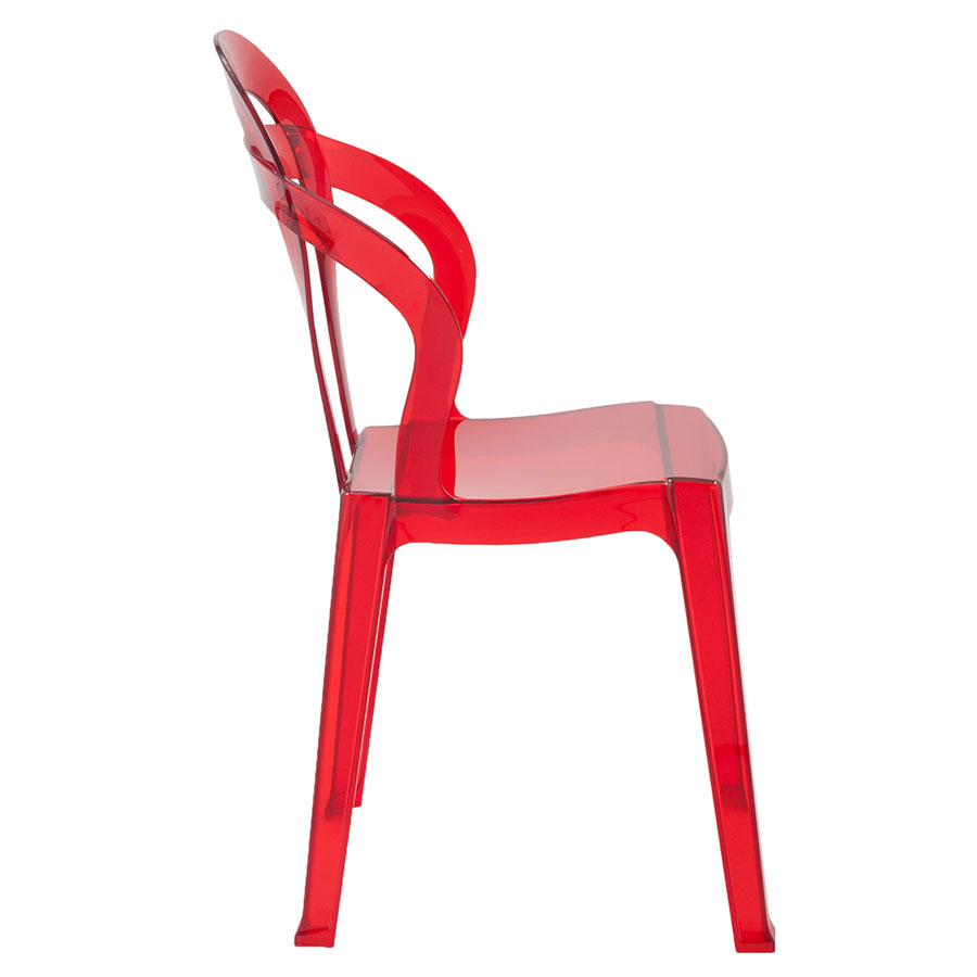 Talbott Red Plastic Contemporary Dining Chair
