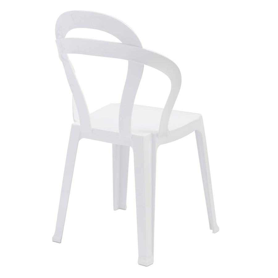 Talbott White Polycarbonate Contemporary Dining Chair
