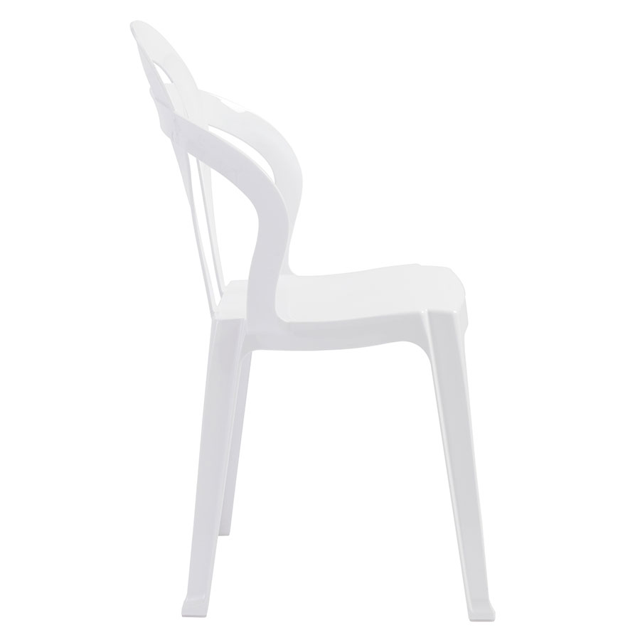 Talbott White Polycarbonate Modern Dining Chair