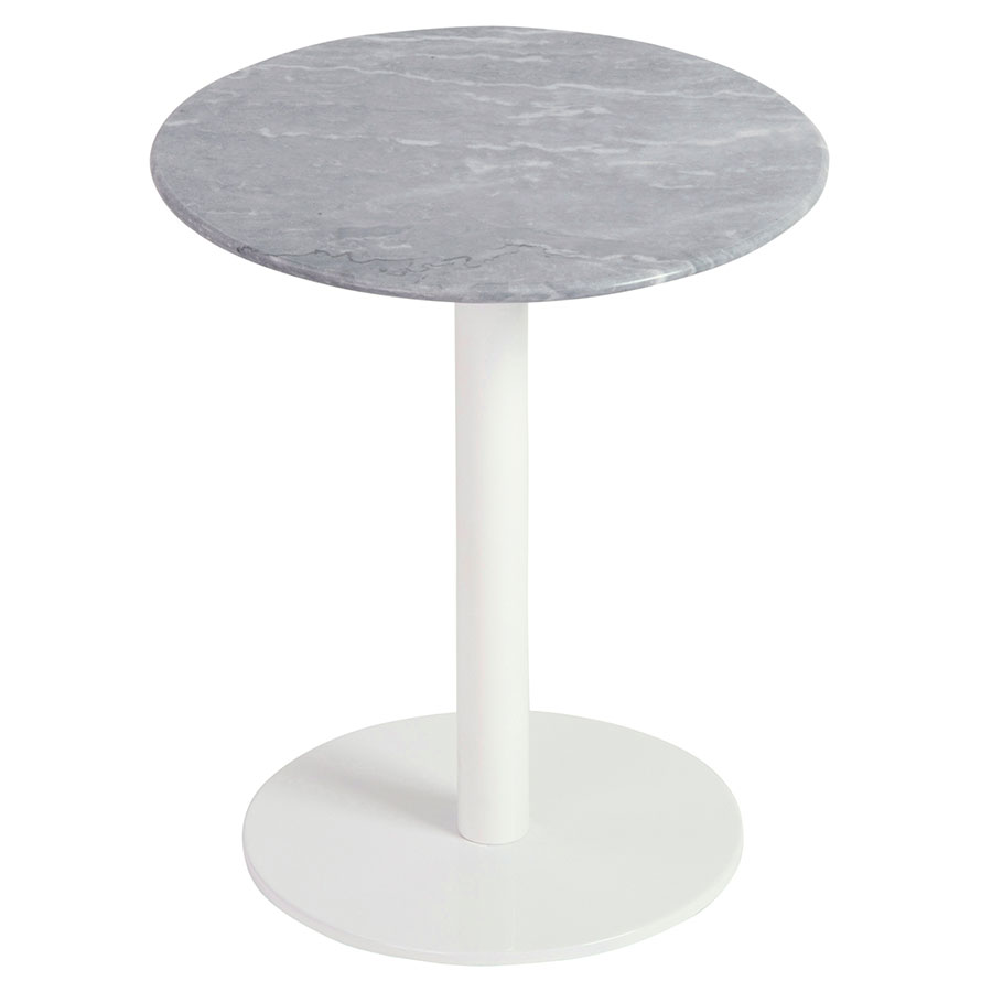talca side table with white base