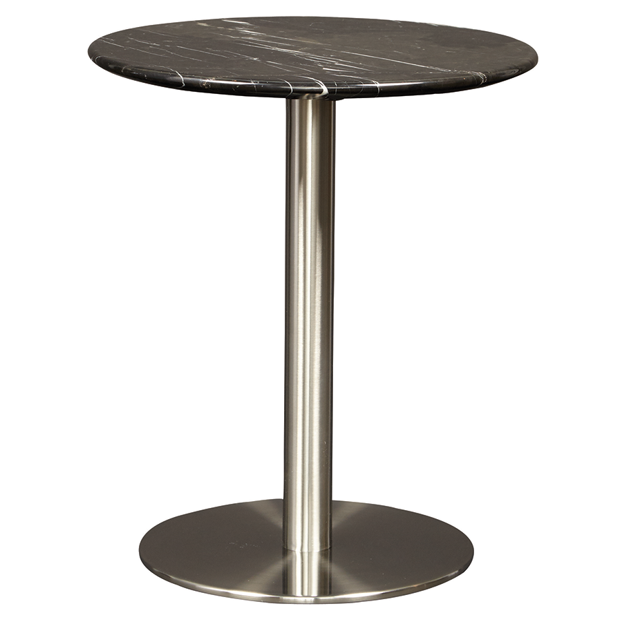 Tammy Black Marble Contemporary Side Table