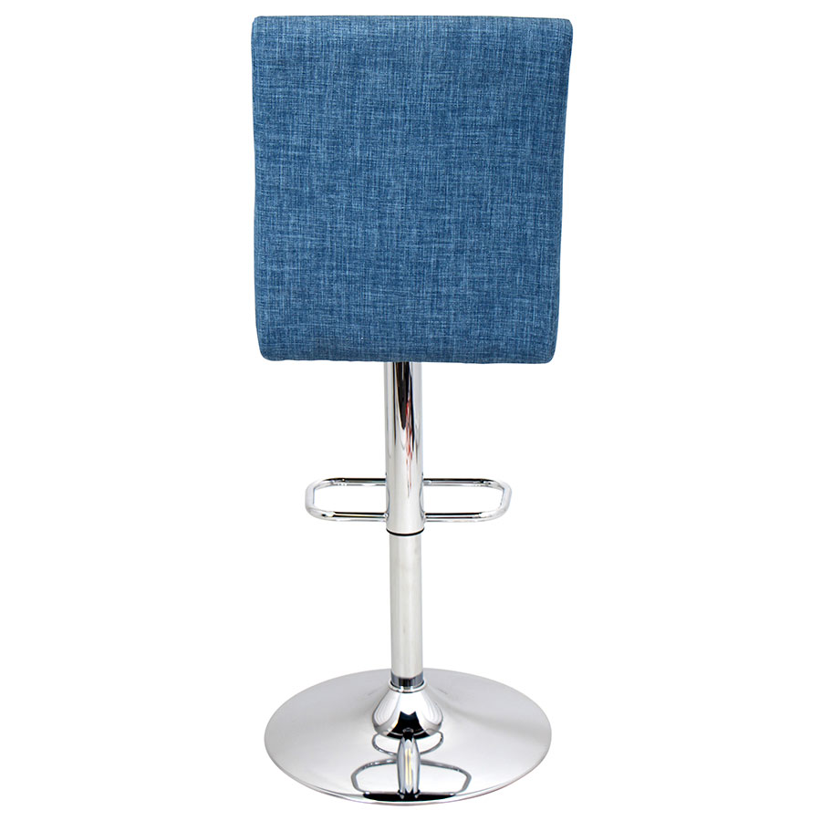 Tarik Blue Fabric Modern Adjustable Stool