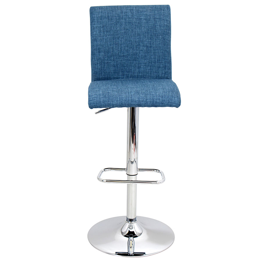 Tarik Blue Contemporary Adjustable Stool