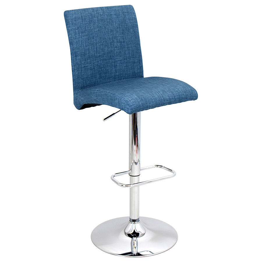 Tarik Blue Modern Adjustable Stool