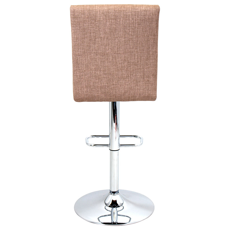 Tarik Brown Fabric Modern Adjustable Stool